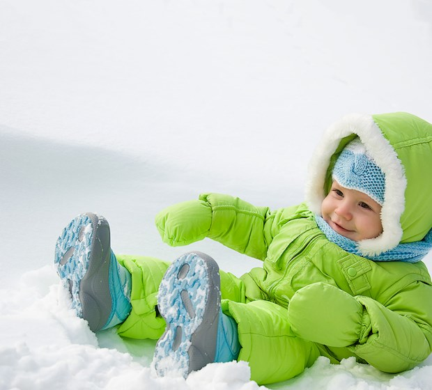 Down jacket child toddler green