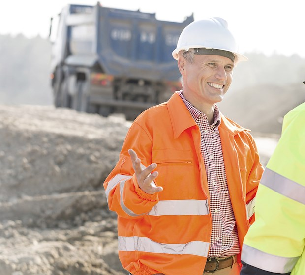 Construction workers high vis