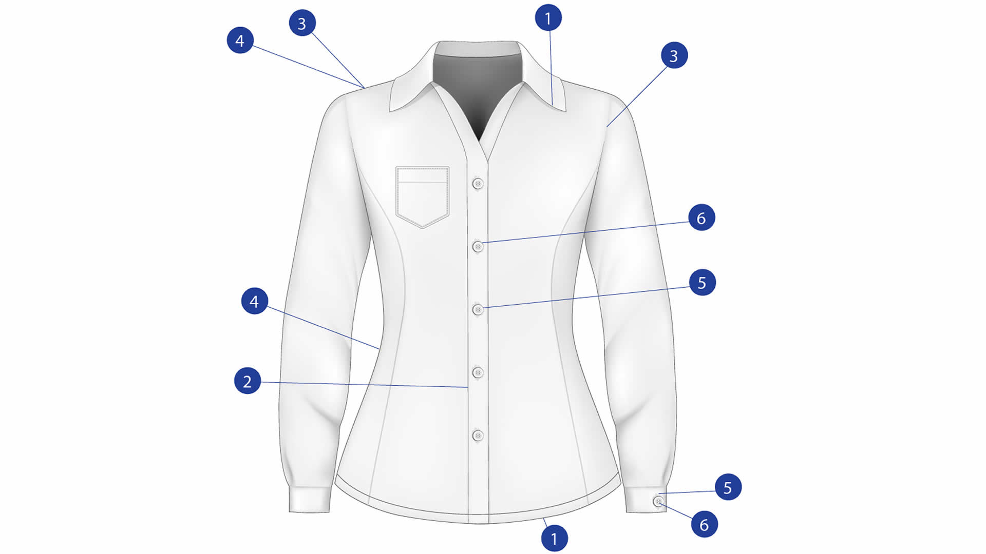 Ladieswear Blouse diagram