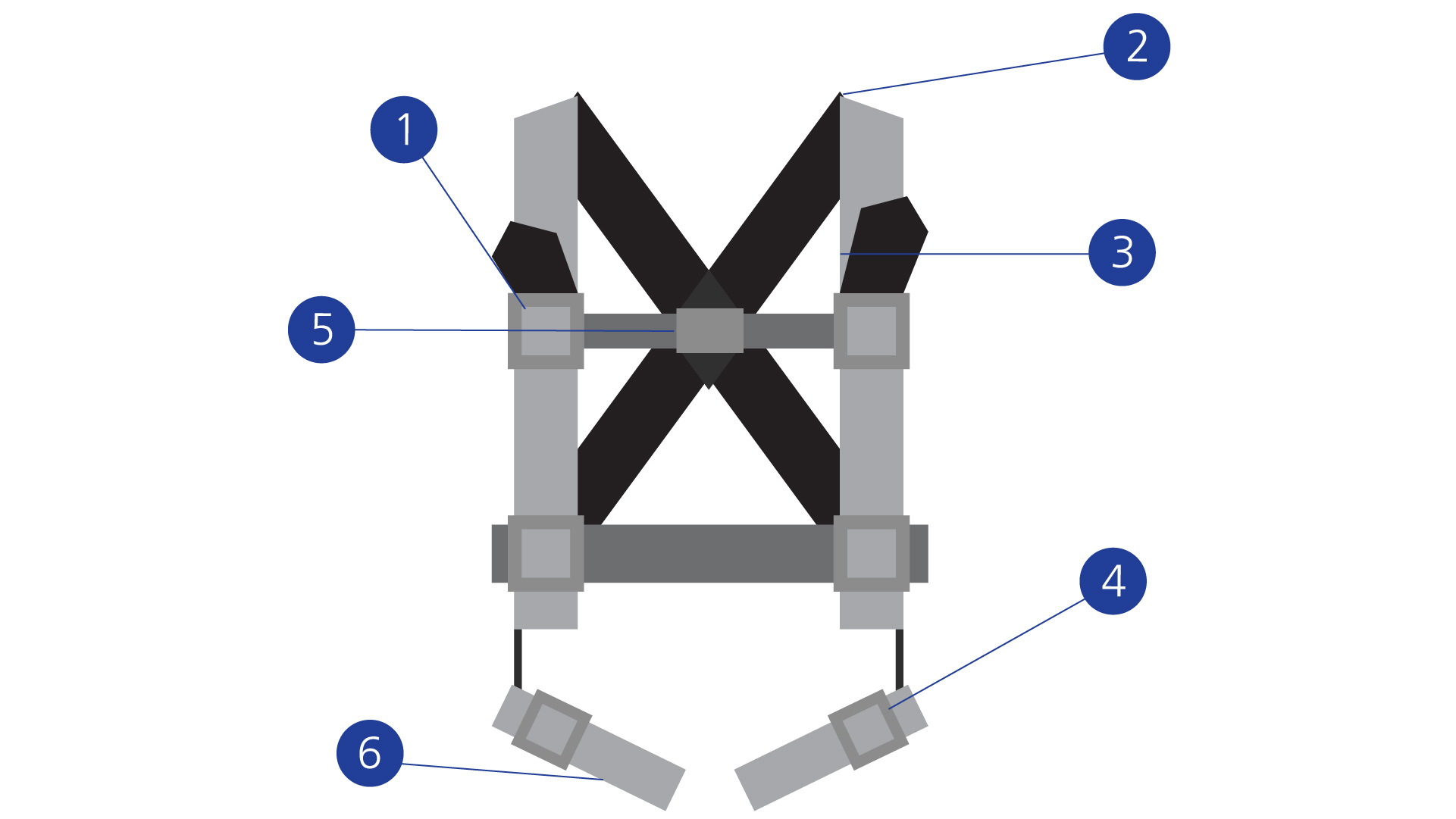 Parachute Harnesses diagram