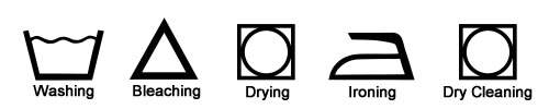 Care label symbols