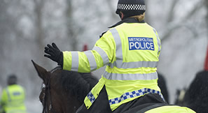 Police woman on horse