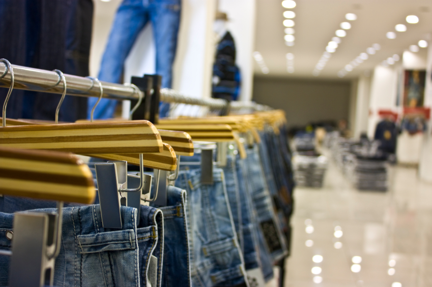 Jeans in store