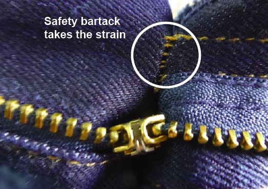 Safety bartack