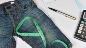 Measuring jeans