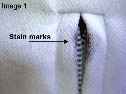 Stain marks