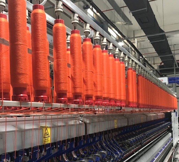 Factory orange thread