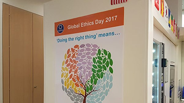 Global Ethics Day poster