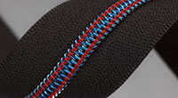 Metallised blue/red stitch IKB01