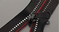 Black textile tape with red spiral